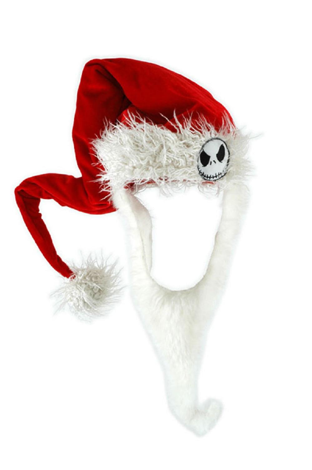 The Nightmare Before Christmas Jack Costume Santa Hat & Beard ...