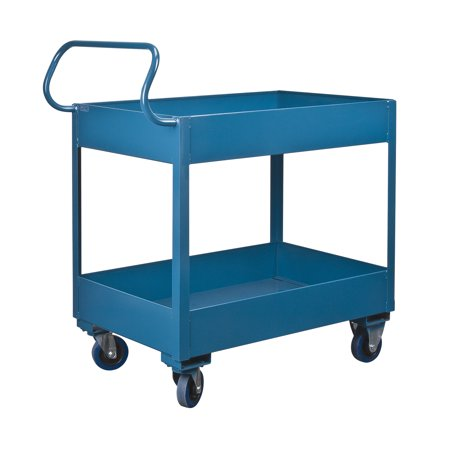 Kleton Deep Lipped Service Cart, 6-Inch Top Shelf Lip, 6-Inch Bottom Shelf Lip, 1200-lbs Capacity - image 1 of 2