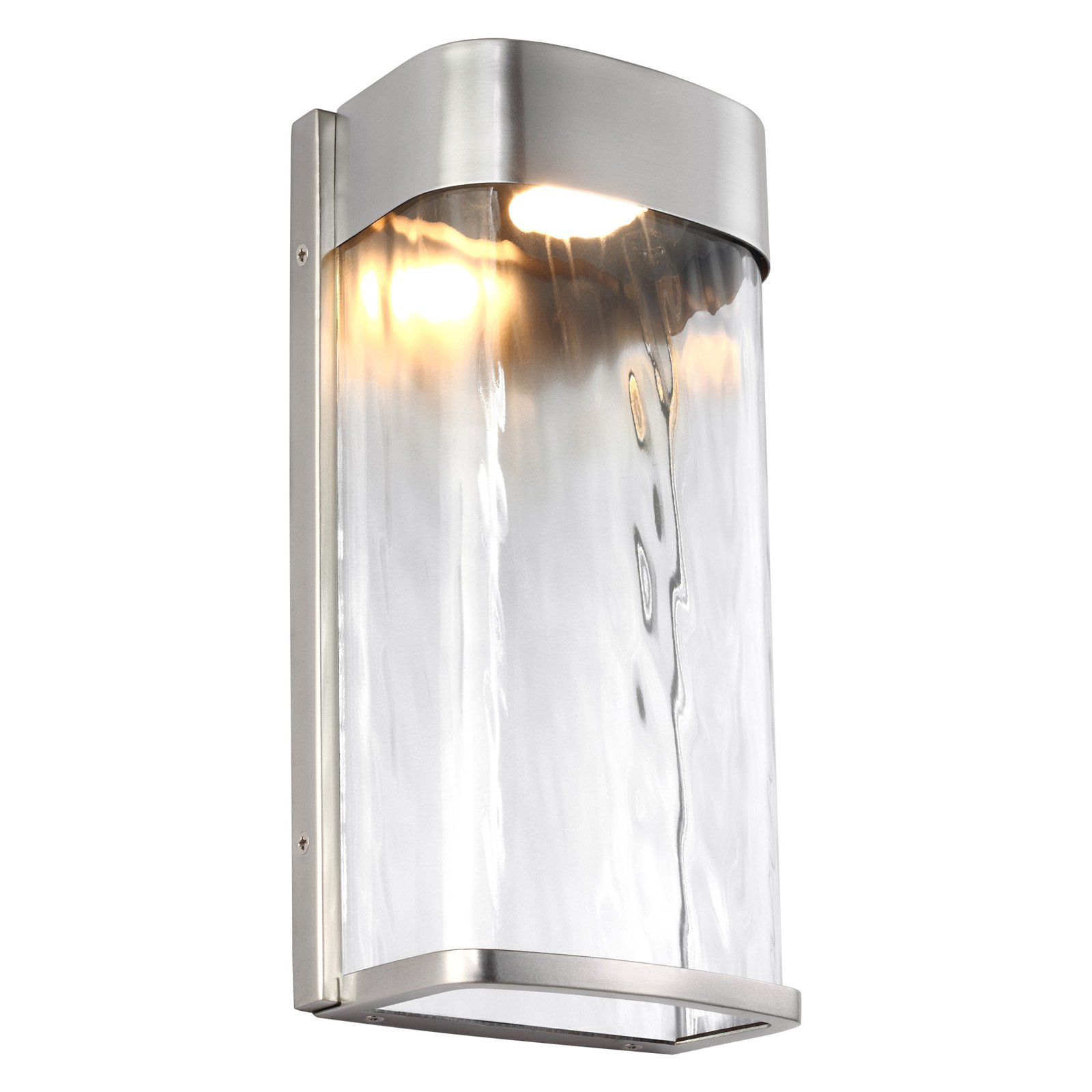 Feiss Bennie LED Outdoor Wall Lantern - Painted Brushed Steel
