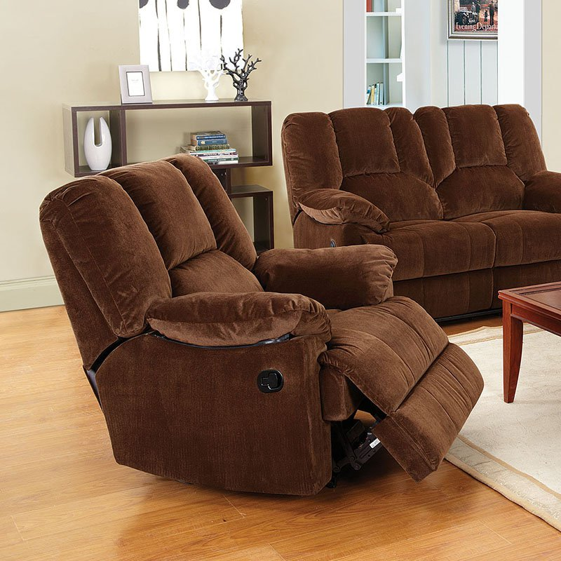 ACME Oliver Glider Recliner, Chocolate Corduroy by Acme Furniture