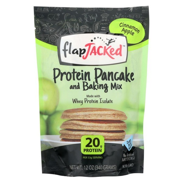 Flapjacked Protein Pancake - Cinnamon Apple Mix - pack of 6 - 12 Oz.