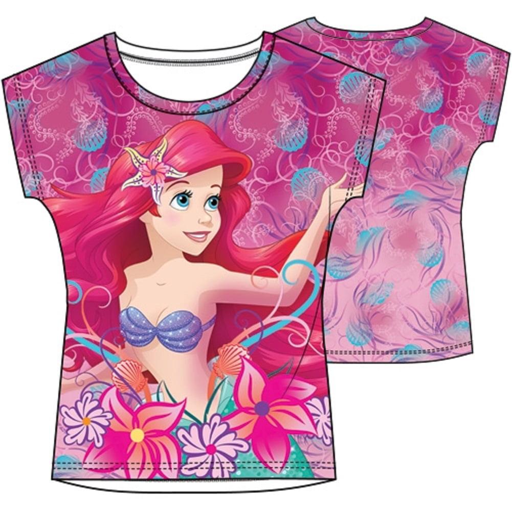 Disney Princess Girls' Ariel Sublimated Top XS(4/5)