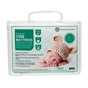 Crib Mattress Protector Pad by Margaux & May - Waterproof, Ultra Soft - Dryer Friendly - Deluxe Bamboo Rayon - Fitted Quilted