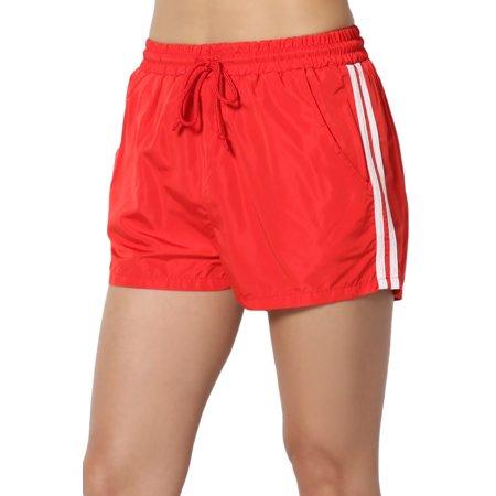 TheMogan Women's Drawstring Waist Traning Running Athletic Active Shell (Drawstring Running Shorts)
