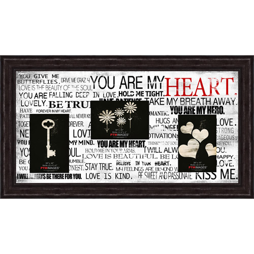 "You Are My Heart II 20"" x 10"" Collage Picture Frame"