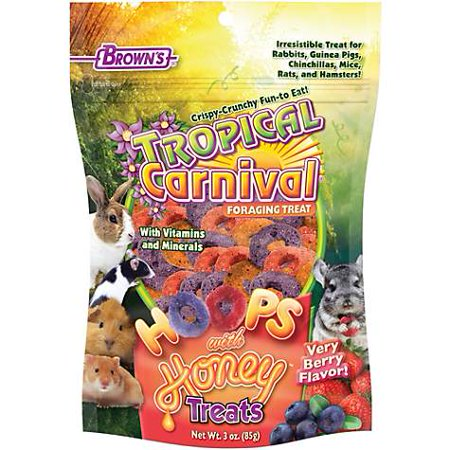 Brown's Tropical Carnival Hoops & Honey Treats, 3 oz (pack of - Carnival Treats