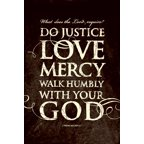 Plaque-Mini-Words Of Love/Do Justice  Love Mercy (For Wall Or Table) (6 x 9)
