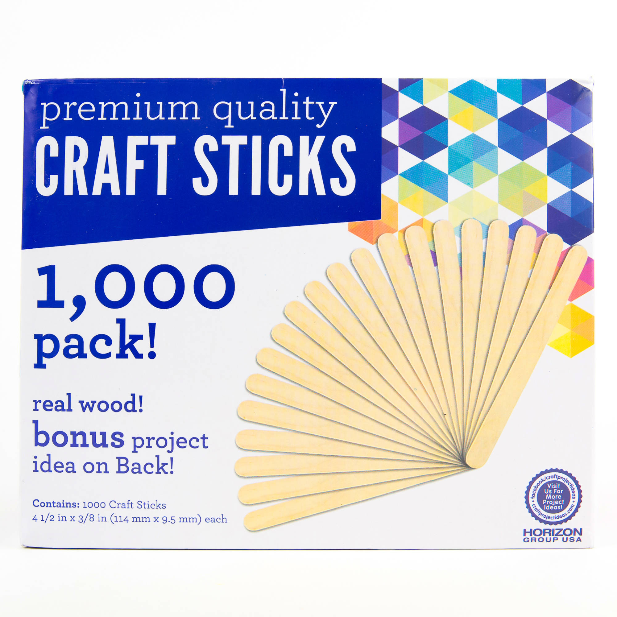 Kids Craft Wooden Craft Sticks, 1,000pk