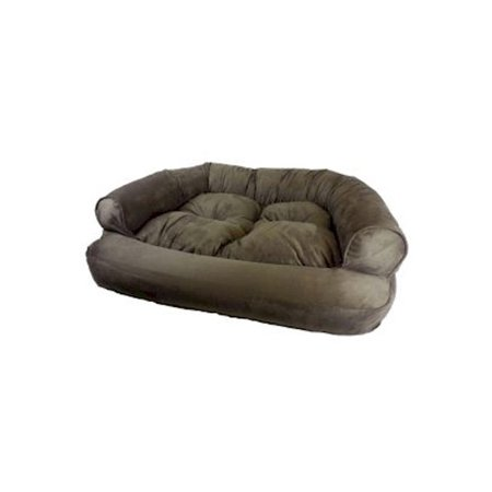 Snoozer Overstuffed Luxury Easy Cleaning Dog Pet Sofa Small Color Peat