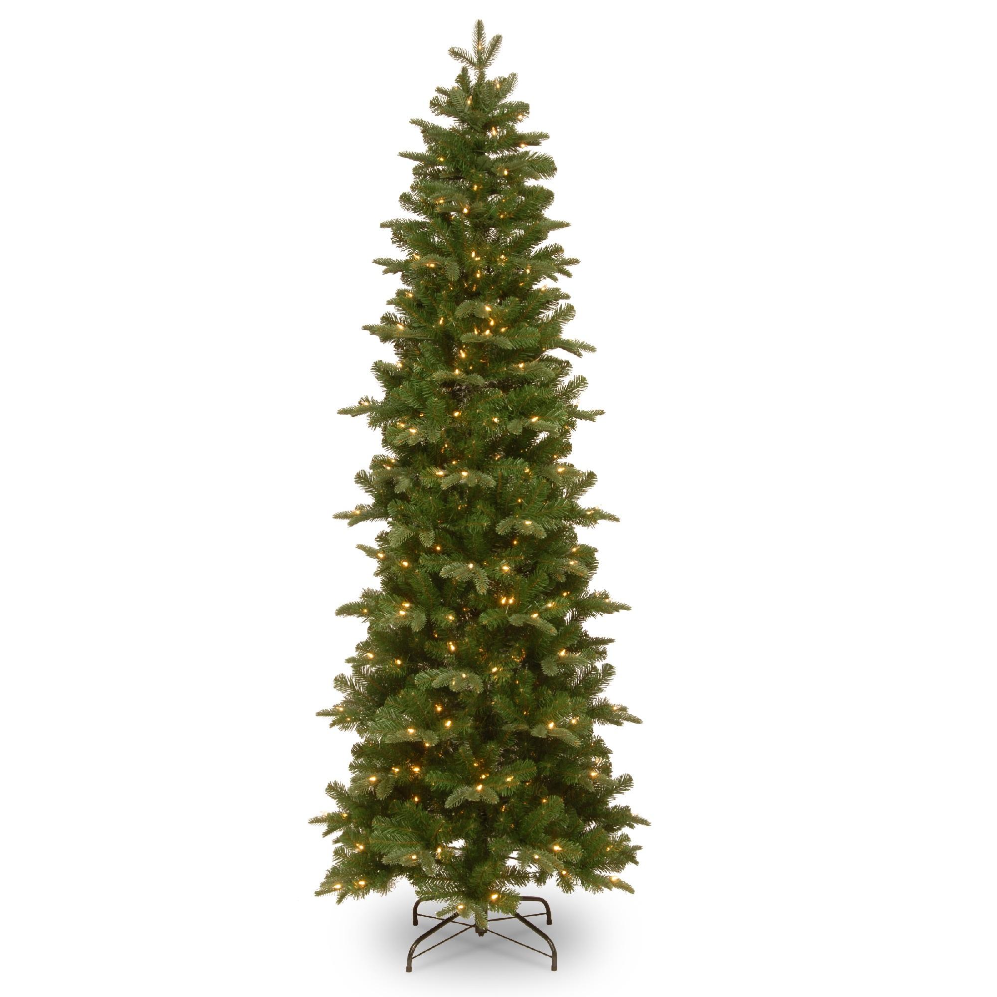 National Tree Company Clear Prelit Incandescent Green Pencil Christmas Tree 7 5 Walmart Com Walmart Com
