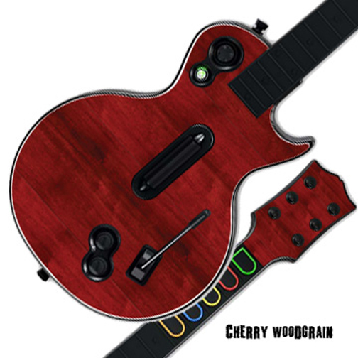 Mightyskins Protective Skin Decal Cover Sticker for GUITAR HERO 3 III PS3 Xbox 360 Les Paul - Cherry Woodgrain