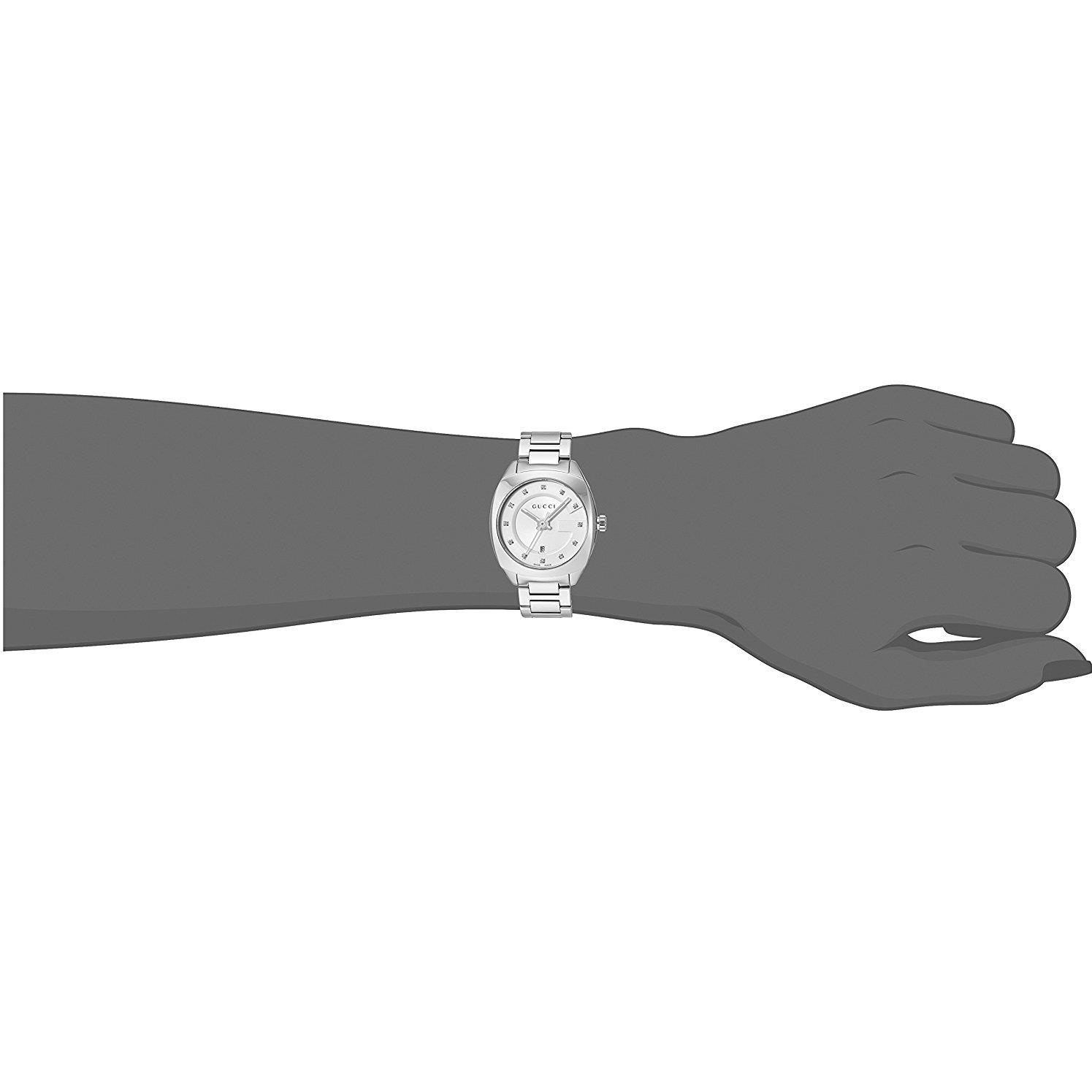 3bdd364519f Gucci - Gucci GG2570 White Dial Stainless Steel Diamond Ladies Watch  YA142504 - Walmart.com