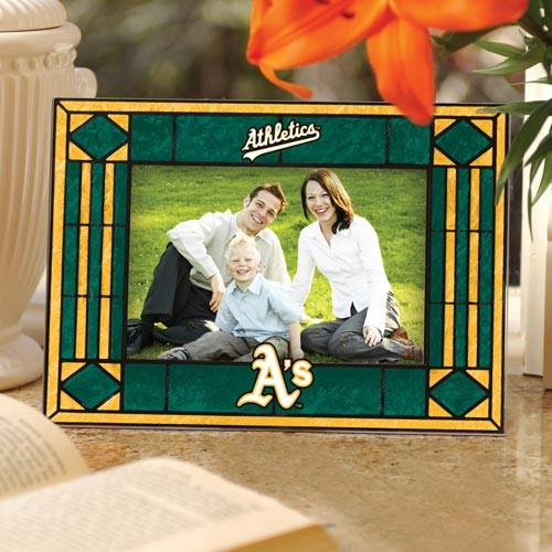 Oakland Athletics Art Glass Horizontal Picture Frame - No Size