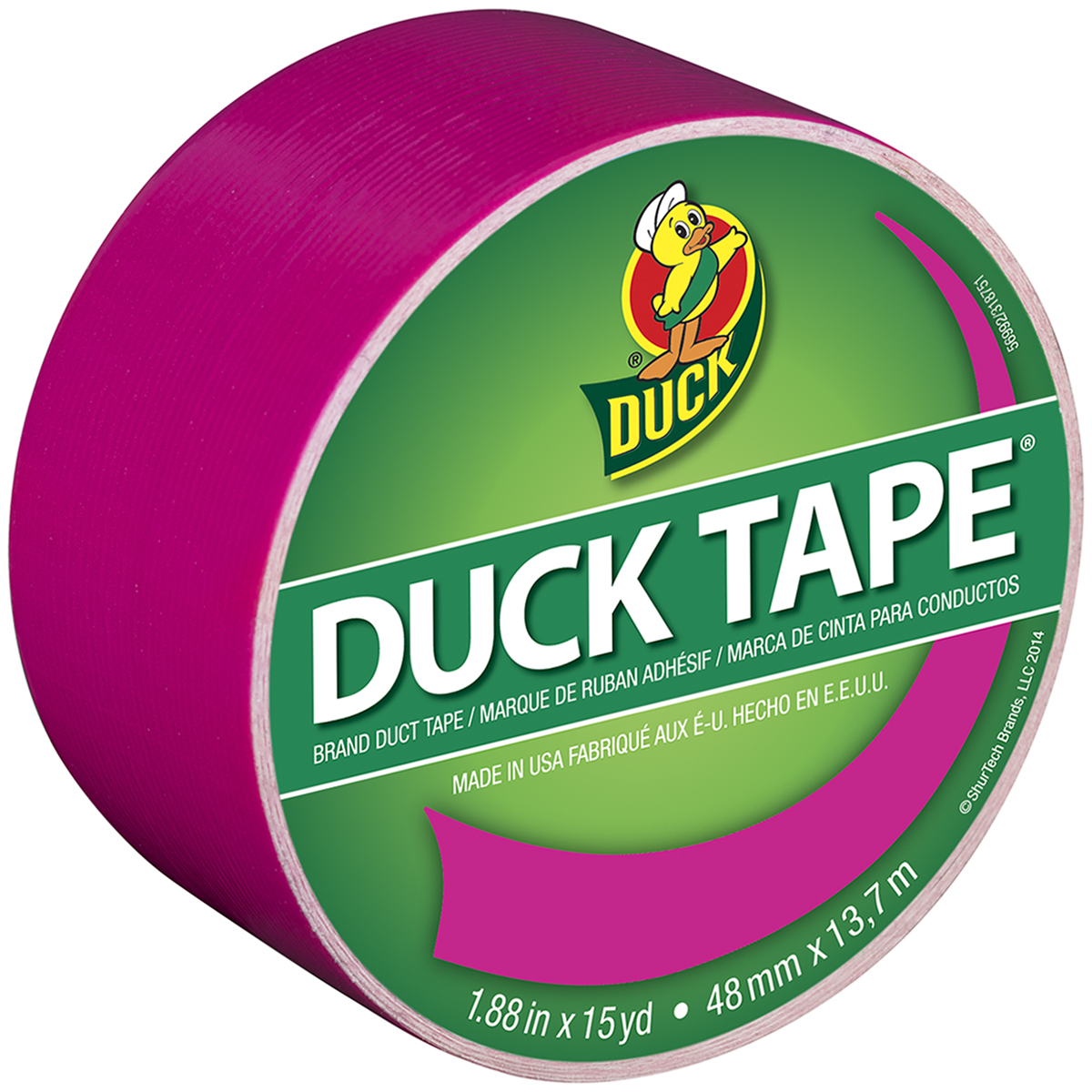 "Bright Duck Tape 1.88""X15yd-Fuchsia Fusion"
