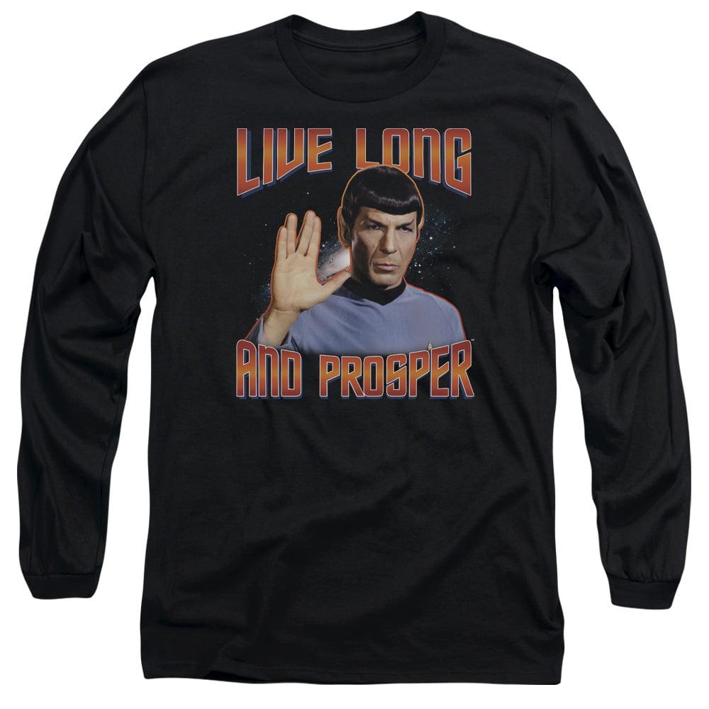 ST ORIGINAL/LIVE LONG AND PROSPER - L/S ADULT 18/1 - BLACK - LG