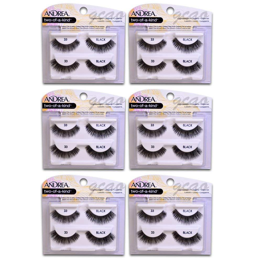 two of a kind Lashes 33 black ( 6 pack ), 6 pc Andrea Twin Pack Lashes By Andrea