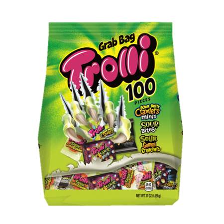 Trolli, Halloween Candy, Gummi Mix and Treat Packs, 100 - Halloween Speedy Mix