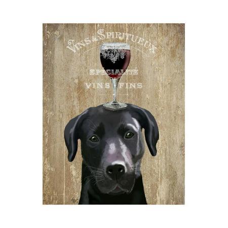 Vin 3 Light Wall (Dog Au Vin Black Labrador Print Wall Art By Fab Funky )