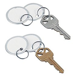 Durable Office Products Key Tags - Avery® Round Metal Rim Key Tags, 1 1/4