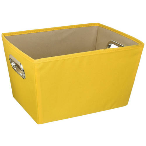 honey can do small decorative storage bin with handles yellow