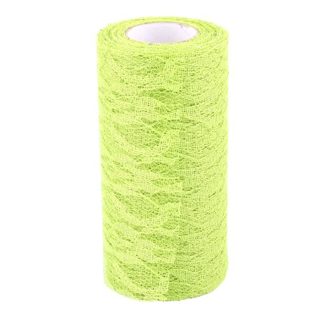 Household Lace Tutu Gift Decor Tulle Spool Roll Yellow Green 6 Inch x 10 Yards - image 5 of 5