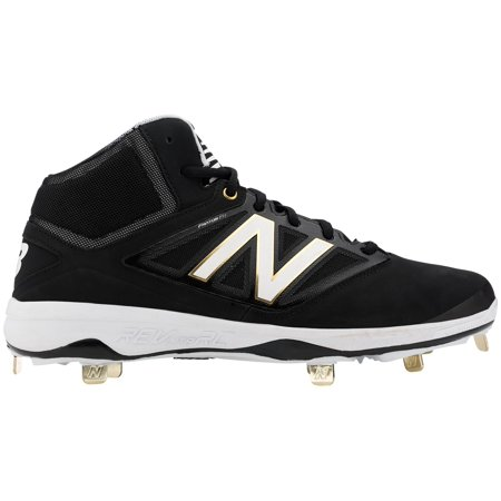 New Balance Men's 4040 V3 Mid Metal Baseball Cleats (Black, (Black Metal Baseball Cleats)