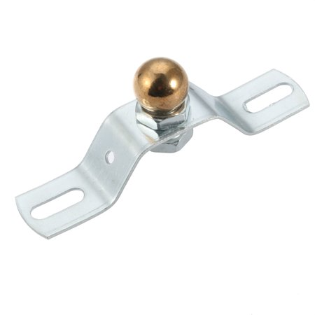 Uxcell 90mm Length Ceiling Plate Kit Metal Shaped Ceiling Mount Hook with Screw Gold