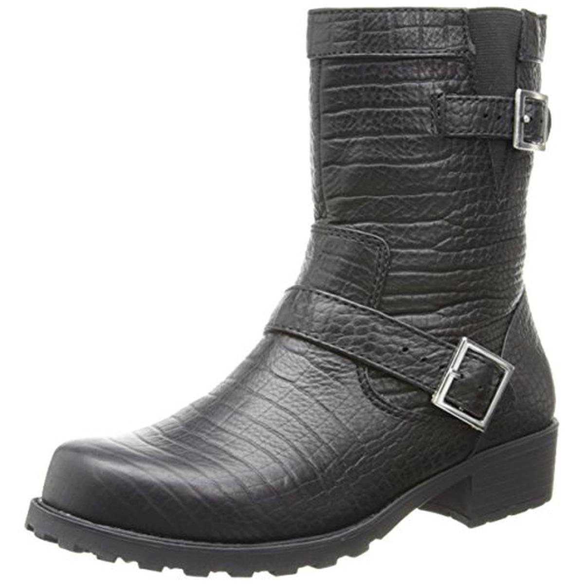 SoftWalk Womens Bellville Leather Mid-Calf Motorcycle Boots by SoftWalk