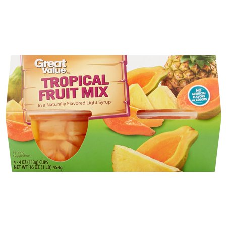 078742322070 UPC - Great Value Tropical Fruit Cups 16 Oz ...