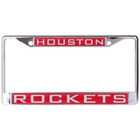 Houston Rockets WinCraft Laser Inlaid Metal License Plate Frame