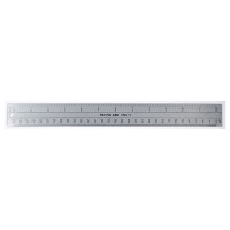 PACIFIC ARC ENG12 ENGINEER SCALE FLAT STAINLESS STEEL 12