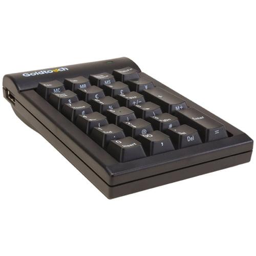 Goldtouch GTC-0077 Goldtouch Numeric Keypad USB Black PC By Ergoguys - USB - 22 Key