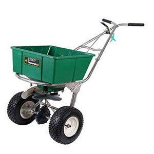 Lesco High Wheel Fertilizer Spreader w/ Manual Deflector 80 Lb. Hopper