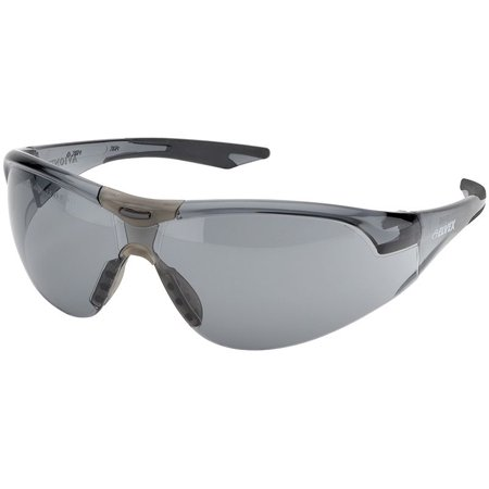 Elvex Avion SlimFit Safety Glasses Black Temples Gray Anti-Fog Lens
