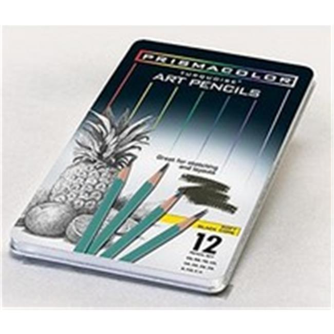Prismacolor 24192 Turquoise Pencil Tins 12 Pencil, Medium