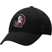 Men's Top of the World Black Florida State Seminoles Jock II 1Fit Flex Hat