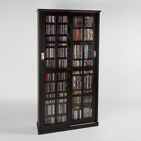 Leslie dame 62 double cd dvd wall media storage cabinet In wall dvd storage