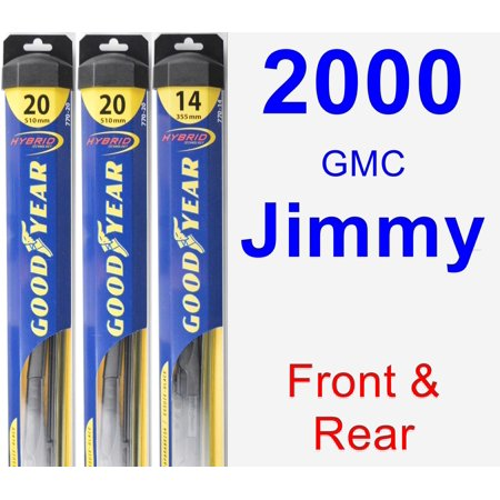 2000 GMC Jimmy Wiper Blade Set/Kit (Front & Rear) (3 Blades) - Hybrid