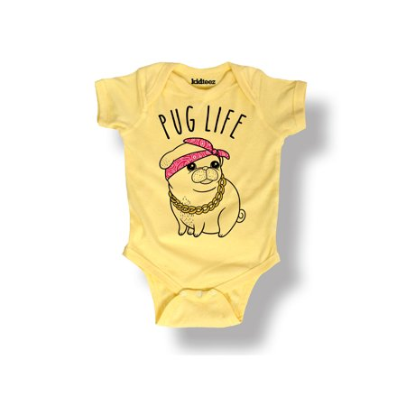 4245e7023 Instant Message - Pug Life Funny Cute Cool Trendy Dogs-Baby One Piece -  Walmart.com