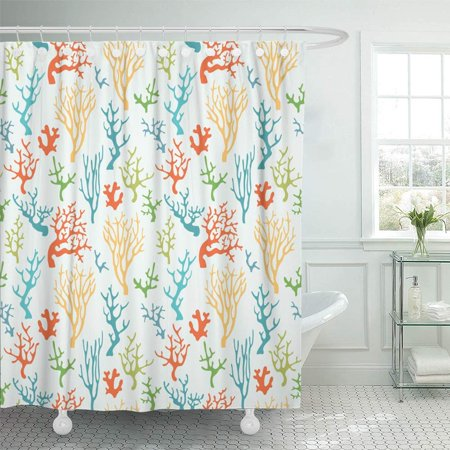 KSADK Reef Colorful Coral Ocean Sea Tropical Abstract Graphic Life Marine Shower Curtain Bath Curtain 66x72 inch ()