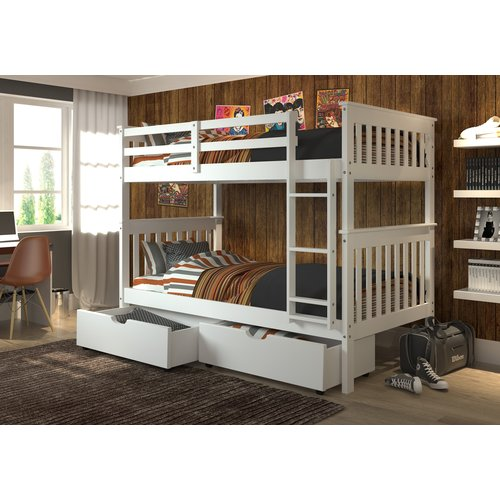 Harriet Bee Dubbo Twin over Twin Bunk Bed with Drawers