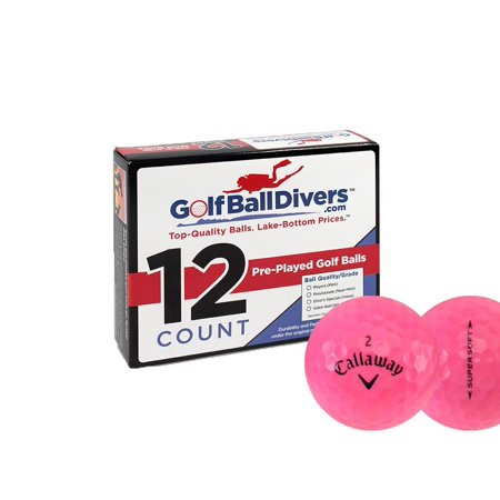 Callaway Supersoft Pink - Near Mint (AAAA) Grade - Recycled (Used) Golf Balls - 12 Pack