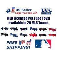 Pets First MLB Chicago Cubs Pet Tube Toy for Dogs and Cats