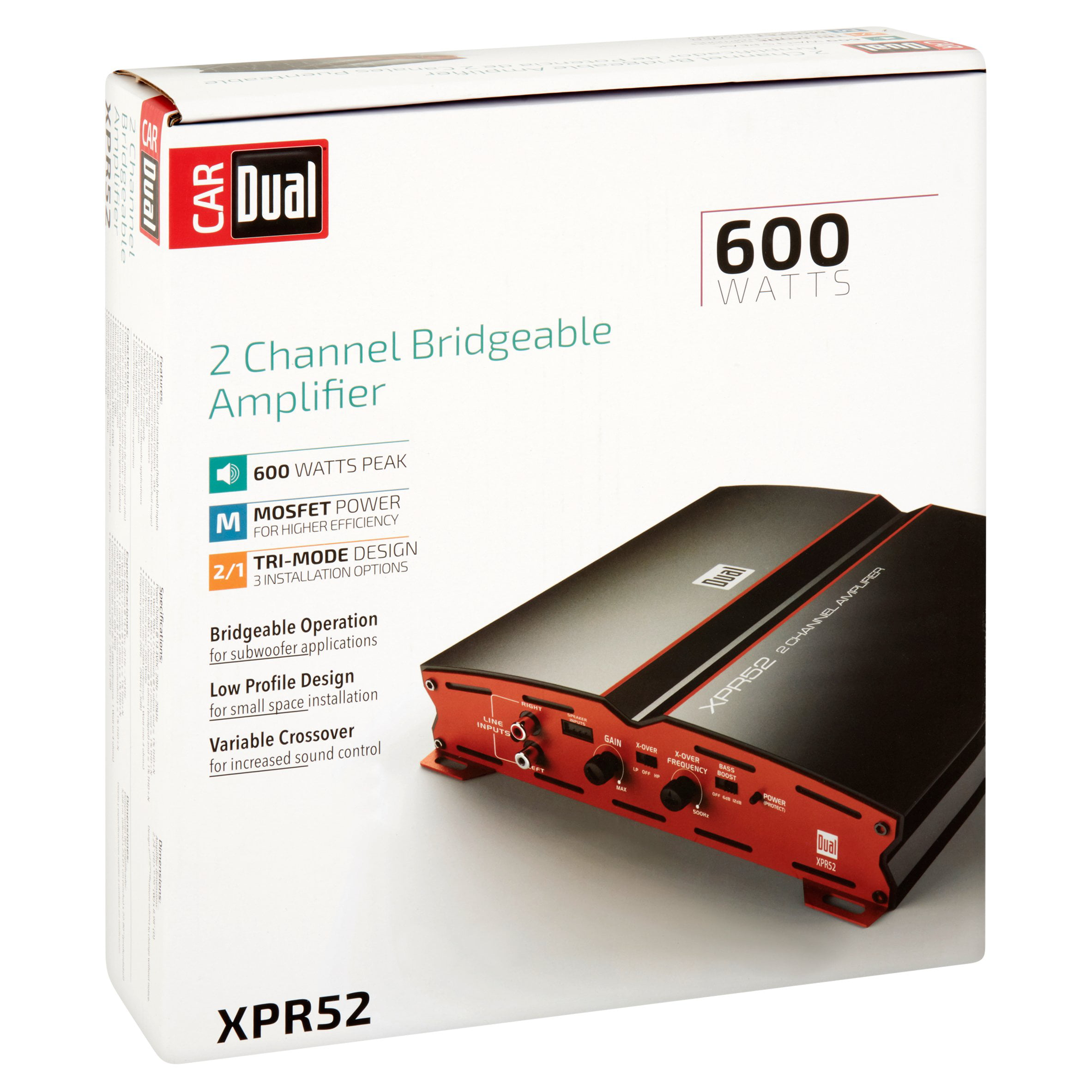 Dual XPR52 2-Channel Bridgeable Amplifier - Walmart.com