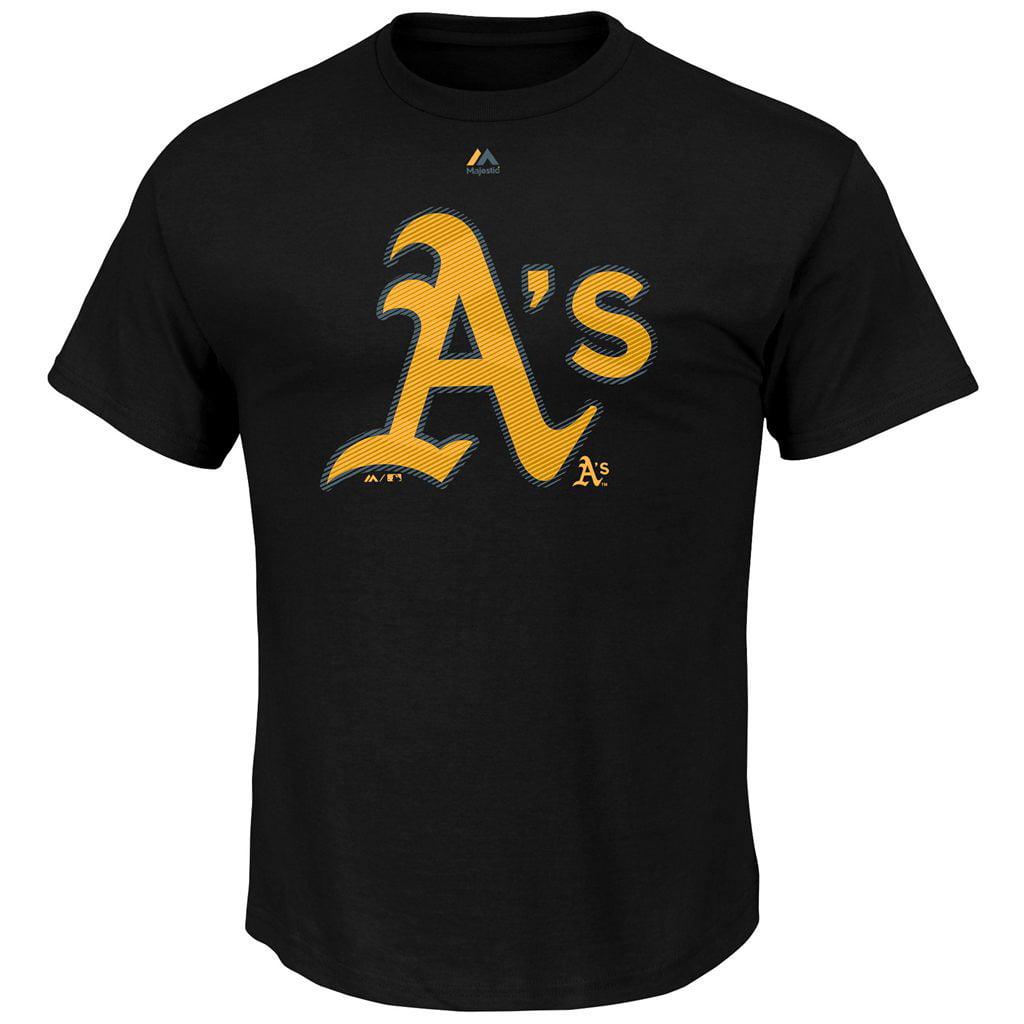 Oakland Athletics Majestic Superior Play T-Shirt - Black