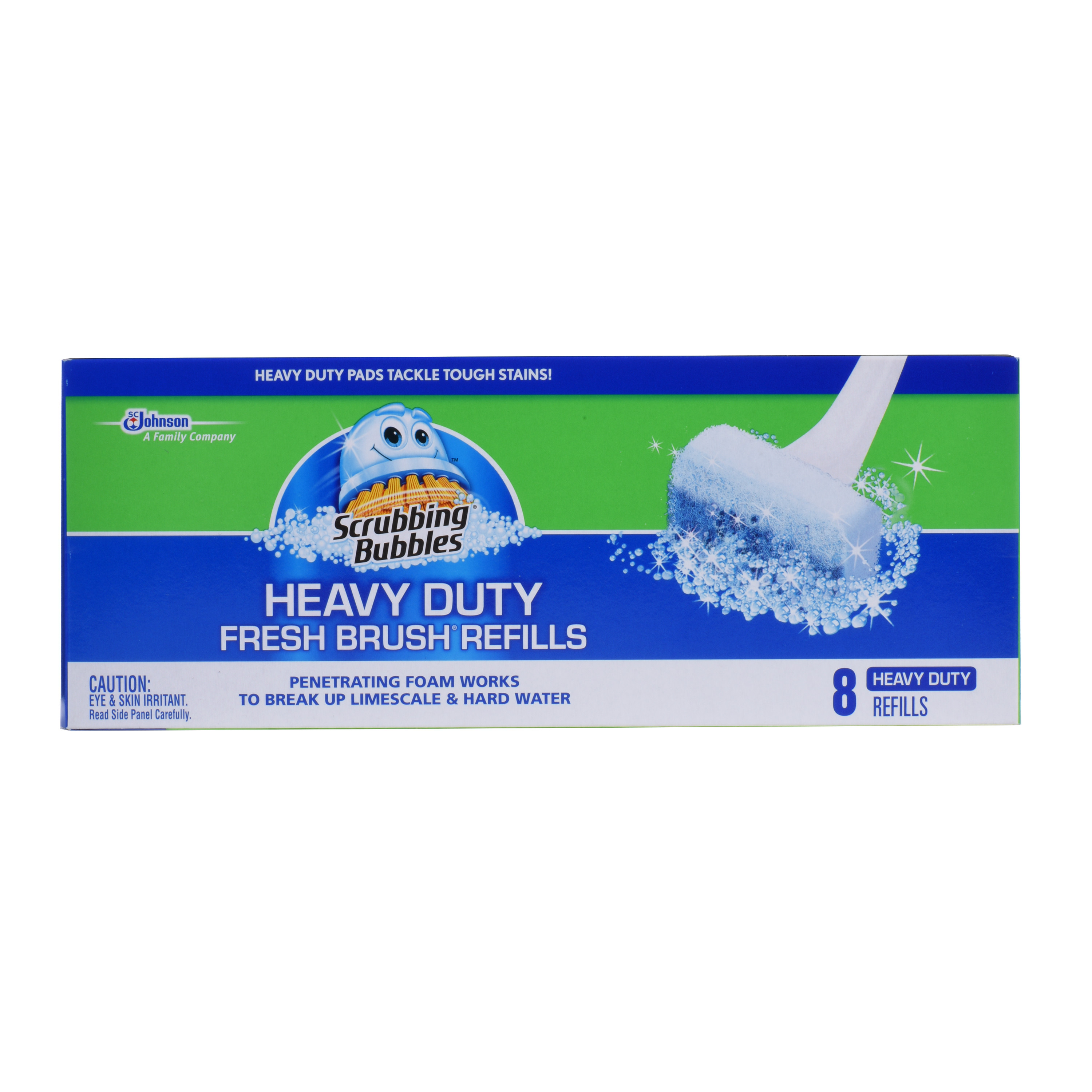 Scrubbing Bubbles Heavy Duty Fresh Brush Refills 8 count