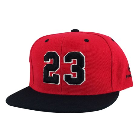 Player Jersey Number #23 Snapback Hat Cap Air Jordan Lebron - Red White Black (Jordan Hat)