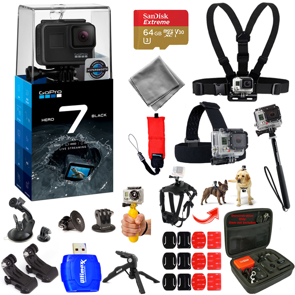 GoPro HERO10 HERO 10 Action Camera (Black) Pro ALL YOU NEED Accessory Bundle  with 10GB Micro SD, Head and Chest Strap, Dog Harness, Medium Case + MUCH