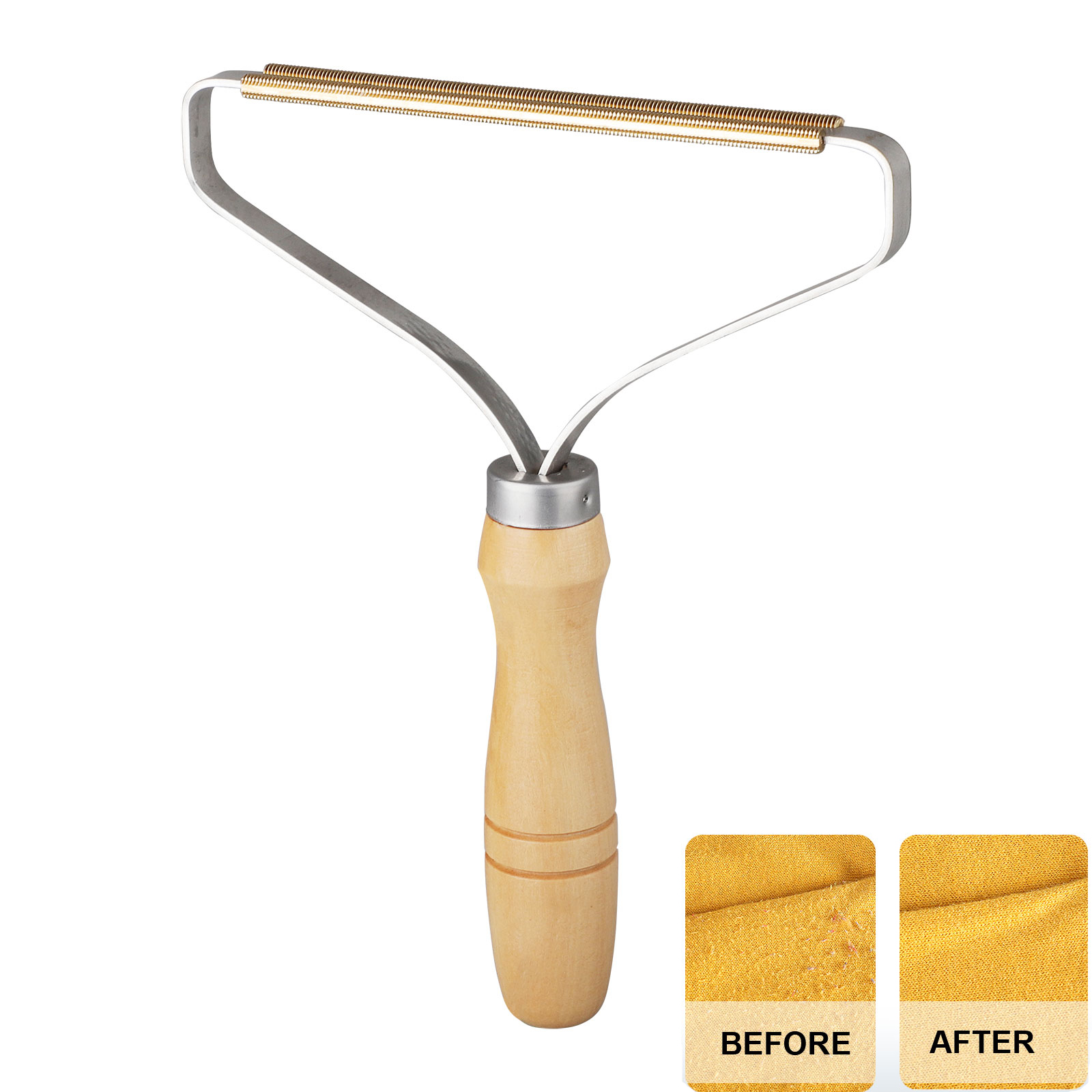 Manual Portable Lint Remover Simple Clothes Fuzz Fabric Wood Shaver Roller Brush