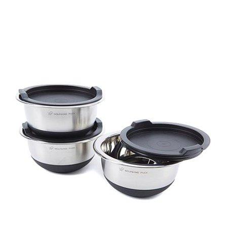 - Wolfgang Puck 6-piece Non-Skid Stainless Steel Mini Mixing Bowl Set